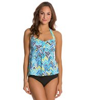 South Point Zig-Zaw Bolsa Chica Tankini Top
