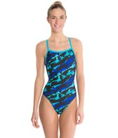 Waterpro Lava Thin Strap One Piece Swimsuit