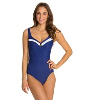 Miraclesuit New Sensations Colorblock Escape Foam Cup/Underwire One Piece