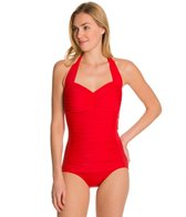 Miraclesuit Novel Ideas Spellbound Retro Halter Underwire One Piece
