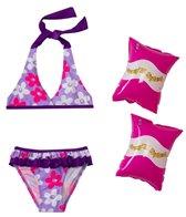 Jump N Splash Girls' Daisies Bikini Set w/FREE Armband (2T-4T)