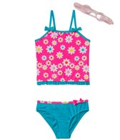 Jump N Splash Girls' Flower Power Tankini Set w/FREE Goggles (4-6)