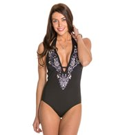 Laundry By Shelli Segal Royals Embroidered One Piece