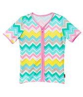 Seafolly Girls Girls' Go-Go Girl Zip Front Rashie (6mos-7yrs)