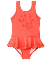 Seafolly Girls Girls' Go Go Girl Flutter Bye Peplum One Piece (6mos-7yrs)