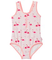 Seafolly Girls' Flamingo Road Zip Front One Piece (2T-7yrs)