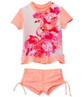 Seafolly Girls Girls' Flamingo Road Rashguard Set (6mos-7yrs)