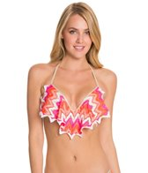 Luli Fama Flamingo Beach Cascade Push Up Underwire Top