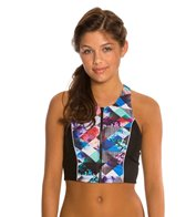 Quintsoul Floral Collage T-Back Crop Top