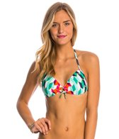 Quintsoul Check Spot & Stripe Seduction Bra Bikini Top