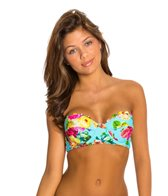 Quintsoul Summer Bloom Lace Back Underwire Bustier Bikini Top