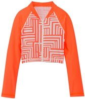 Seafolly Girls Mod Pop Cropped Zip Front Rashie (6-16)