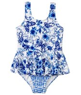 Seafolly Girls Tea House Peplum Tank One Piece (6mos-7yrs)