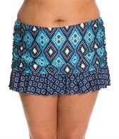 Kenneth Cole Reaction Plus Size Coastal Escapade Rouched Skirted Bottom