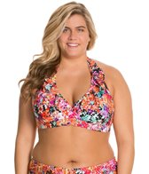 Kenneth Cole Reaction Plus Size Darling Ditsy Underwire Halter Top