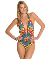 Kenneth Cole Upon The Horizon Halter Plunge One Piece