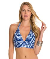 Kenneth Cole Electric Stripe Midkini Halter Bikini Top
