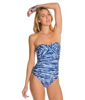 Kenneth Cole Electric Stripe Twist Bandeau One Piece