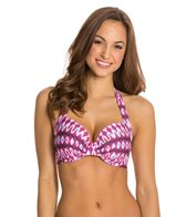 Kenneth Cole Ikat In The Act Underwire D-Cup Bikini Top