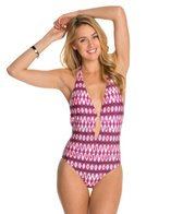 Kenneth Cole Ikat In The Act Halter One Piece