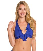 Kenneth Cole Reaction Ruffle-Licious Banded Halter Bikini Top