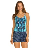 Kenneth Cole Reaction Coastal Escapade Drawstring Romper