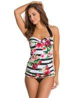 Jantzen Harbour Beauty Halter Vamp Swim Dress
