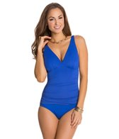 Jantzen Solid C/D Cup Gathered Front One Piece