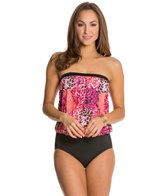 Jantzen Wild Blooms Flirty Girl Blouson Bandeau One Piece