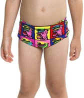 Funky Trunks Toddler Boys' Bad Boy Boxer Printed Trunk (1-6)