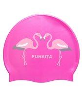 Funkita Flaming Go Go Silicone Swim Cap