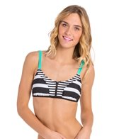 Hobie Surfin' Stripe Crop Bra Bikini Top