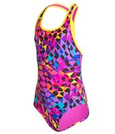 Speedo Girls' Spectrum Split Keyhole One Piece (7-16)