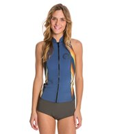 Billabong Women's 2MM Salty Dayz Front Zip Vest