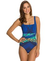 Gottex Emerald Boa Square Neck Tank One Piece
