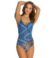 Gottex Rainbow Zebra Underwire One Piece