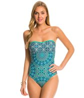 Jessica Simpson Gypsy Life Braid Back Bandeau One Piece