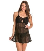 Jessica Simpson Solid Tie Front Lace Cover Up
