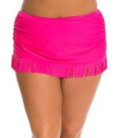 Jessica Simpson Plus Size Desert Fringe Skirted Bottom