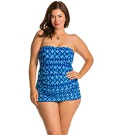 Jessica Simpson Plus Size Navajo Bandeau Swimdress