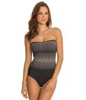 Jones New York Chevron Bandeau One Piece