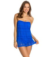 Jones New York Neo Crochet Blouson Swim Dress