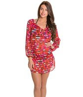 Jones New York Poppy Floral Peasant Cover Up