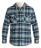 Quiksilver Men's Grouper Hooded L/S Flannel