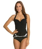 Profile by Gottex Belle Curves D Cup Halter Tankini Top