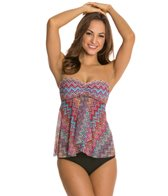 Profile by Gottex Party Time Fly Away Tankini Top