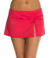 Profile by Gottex Solid Side Shirred Skirted Bottom