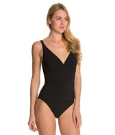 Profile by Gottex Solid V-Neck D-Cup One Piece