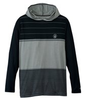 Volcom Men's Sub Stripe Hooded L/S Rashguard