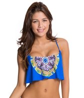 Red Carter Sun Goddess Flounce Cross Back Top